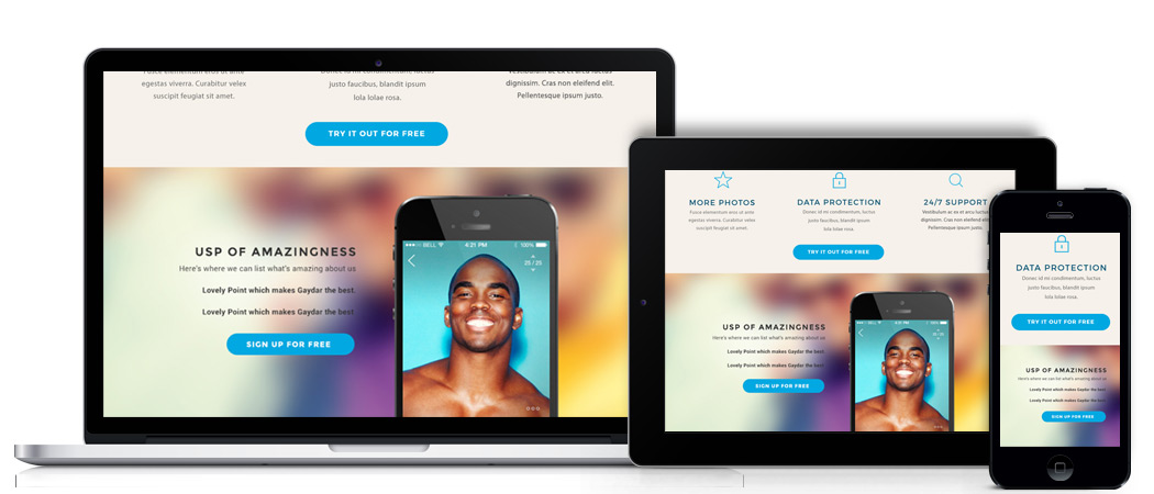 gaydar desktop website